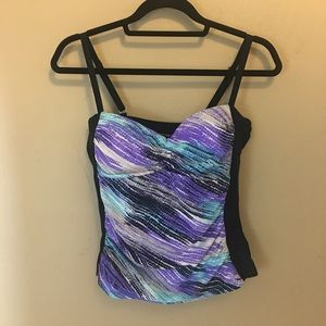 Free Country Women's Tankini Top Size L 12-14